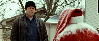 Fred Claus (Vince Vaughn) stares down yet another seasonal reminder of the brother in whose shadow he's been living.