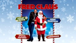 Fred Claus' static DVD main menu employs the Fred and Nick buddy pose used on UK posters.