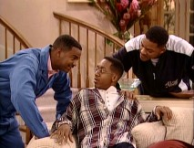 "Carlton and Will question Derek's (Jaleel White) intentions to deflower Ashley in ""Not With My Cousin You Don't."""