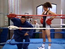 Will is reluctant to spar with his cousin's boxing instructor Helena (Galyn Görg).