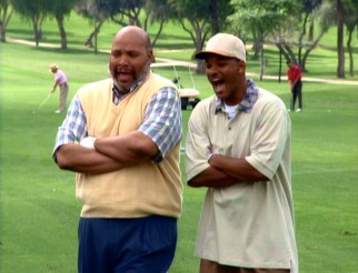 "Phil (James Avery) and Will (Will Smith) discover that a golf tournament can be fun without playing well in ""I, Stank Hole in One."""