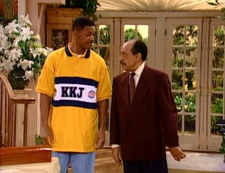 "In the ""Fresh Prince"" series finale, classic sitcom characters like George Jefferson (Sherman Hemsley) are among the Banks mansion's prospective buyers."