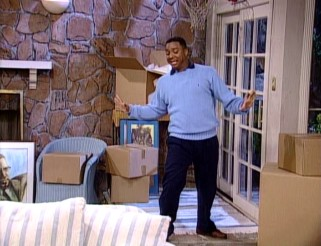 "Carlton Banks (Alfonso Ribeiro) performs his signature ""It's Not Unusual"" dance one last time in the closing moments of the series finale."