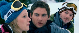 Dan (Kevin Zegers, center) decides girlfriend Parker (Emma Bell), not best friend Lynch (Shawn Ashmore), is best suited for attempting the group's discounted admission Sunday ski plan.