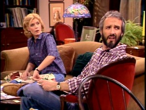 Elyse (Meredith Baxter Birney) and Steven are a bit perplexed by something.