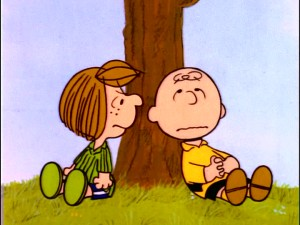 "Peppermint Patty has a way of making ""Chuck"" feel uncomfortable as she does in this under the tree springtime conversation."