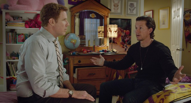 "Brad Whitaker (Will Ferrell) and Dusty Mayron (Mark Wahlberg) butt heads over the kids they both hold responsibility over in ""Daddy's Home."""