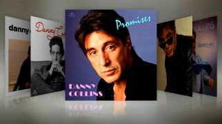 Pictures of Al Pacino from over the years are turned into era-specific album covers, displayed in this gallery.