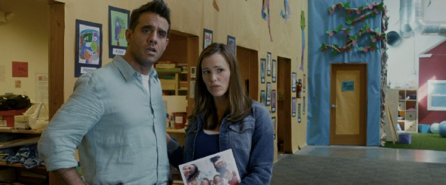 Tom (Bobby Cannavale) and Samantha Leigh Donnelly (Jennifer Garner) are the beneficiaries of Danny Collins' guilt-fueled generosity.