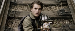 Emile Hirsch tries to hit those invisible aliens with his best shot of microwave gun.