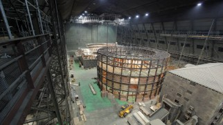 "Time-lapse photography shows the construction of Bane's sewer base in ""Beneath Gotham."""