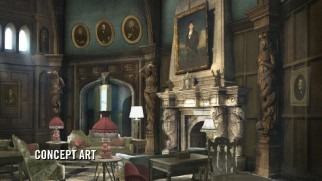 "This concept art is compared to the final Collinswood mansion set in ""Welcome to Collinsport!"""