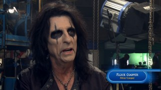 Alice Cooper discusses his appearance and performances in the film's ball scene.