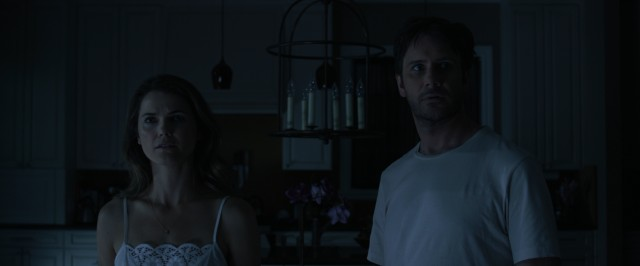 "In ""Dark Skies"", Lacy (Keri Russell) and Daniel Barrett (Josh Hamilton) have their sleep disturbed on a number of early summer nights."