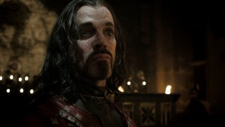 "The frightening Vlad III (Paul Rhys), a.k.a. Count Dracula, finds da Vinci and friends in his castle in ""The Devil."""