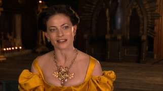 "Wearing her most ornate dress of the season, Lara Pulver discusses costumes in ""Dressing Da Vinci."""