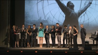 "The cast and crew of ""Da Vinci's Demons"" premiere the show in -- where else? -- Florence, Italy."