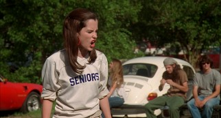 Darla (Parker Posey) leads the female version of initiation, which incoming freshmen hit with oats, condiments, and insults.