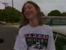 "A camera tags along for Wiley Wiggins' first day of school following filming, which he attends in a ""Dazed and Confused"" T-shirt."