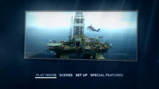 The Deepwater Horizon DVD main menu gives us a look at the entire rig while still operating properly.