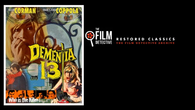 The Film Detective's Dementia 13 Blu-ray menu looks a lot like the cover art.