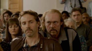 Never trust a mustachioed man: suspicion is cast over stepfathers Terry Hobbs (Alessandro Nivola) and John Mark Byers (Kevin Durand).
