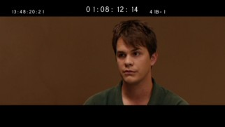Cut from the film, Johnny Simmons has his interrogation preserved as one of two deleted scenes.