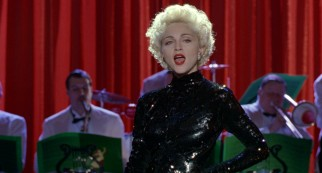 As the moll Breathless Mahoney, Madonna performs most of the original songs penned by Broadway legend Stephen Sondheim.