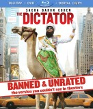 The Dictator (Banned & Unrated Blu-ray + DVD + Digital Copy) combo pack cover art - click to buy from Amazon.com
