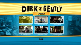 The Dirk Gently DVD may not have bonus features, but it does have scene index menus...