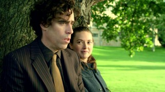 While dodging police at the university from which he was expelled, Dirk (Stephen Mangan) makes a friend (Lydia Wilson) with a taste for salt and vinegar potato chips.