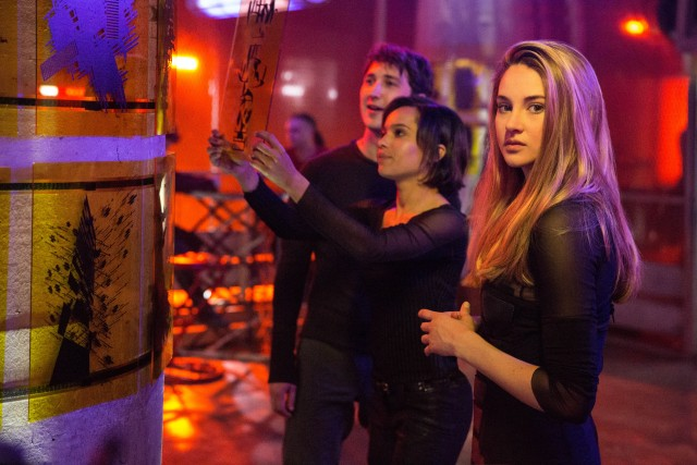"Beatrice Prior (Shailene Woodley) reinvents herself as ""Tris"" in the adventuresome faction called Dauntless."