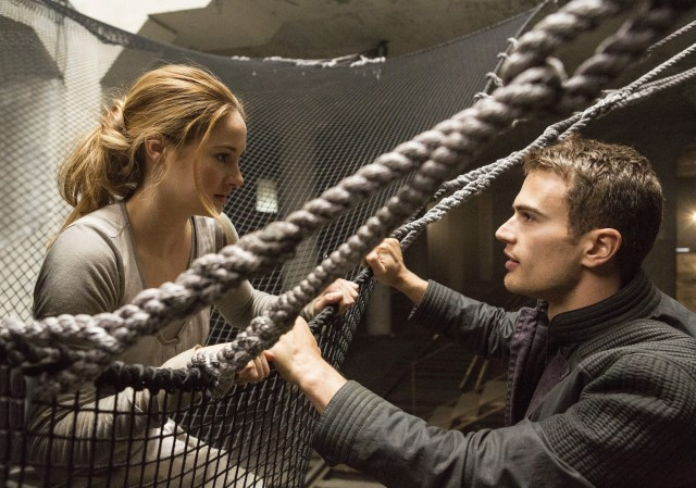 Tris (Shailene Woodley) and Four (Theo James) are supposed to be the new Bella and Edward or Katniss and Peeta.
