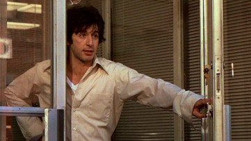 "In ""Dog Day Afternoon"", Sonny Wortzik (Al Pacino) takes dozens of hostages as part of his Brooklyn bank robbery."