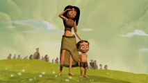 A mother and son glimpse upon Hutash's Rainbow Bridge in this crude CG-animated short.