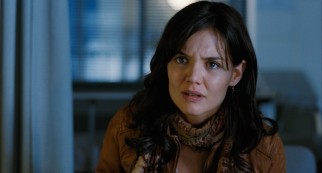 Kim (Katie Holmes) is shocked by what she hears upon her hospital visit to injured renovator Mr. Harris.