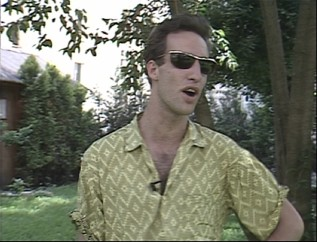 At Cannes 1986, John Lurie is interviewed for French television, a video he critically reflects upon from 2002.