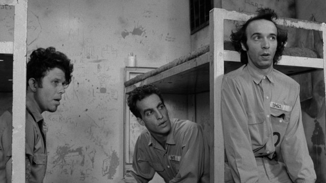 "Jim Jarmusch's ""Down by Law"" centers on three men (Tom Waits, John Lurie, and Roberto Benigni) who end up sharing a New Orleans prison cell."