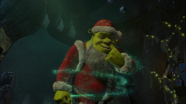 Nothing says DreamWorks Holiday Classics like a booger-picking Ogre Claus who farts magic.