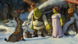 Shrek is just getting the hang of Christmas decorations. Would you cut him some slack please?!