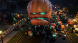 "Mutant Pumpkins from Outer Space pose a threat to Modesto, California in this ""Monsters vs Aliens"" Halloween special."