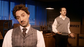 "The working relationship of Mickey Mouse creator Ub Iwerks (Tony Hale) and Walt Disney (Michael Anagarano) is dramatized in ""Hollywood."""