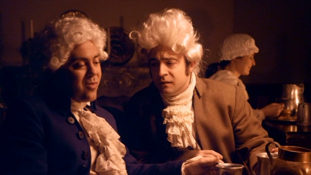 "The complicated friendship and rivalry of Thomas Jefferson and John Adams (Joe Lo Truglio) gets the Drunk History treatment in Season 2's ""Philadelphia."""