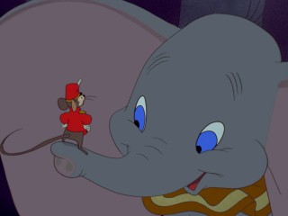 Dumbo finds a much-needed friend in the caring and protective Timothy Q. Mouse.
