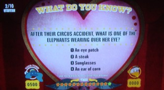"The game ""What Do You Know?"" tests your knowledge of the film, animals, and the circus."