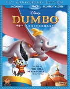 Dumbo: 70th Anniversary Edition Blu-ray + DVD combo cover art - click to buy from Amazon.com
