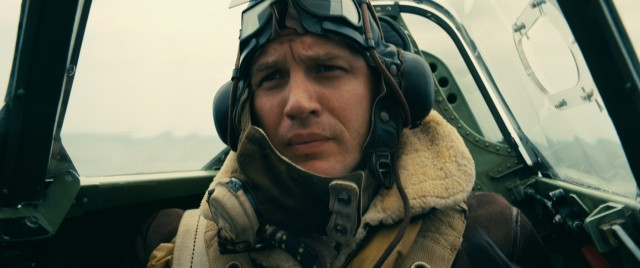 Tom Hardy briefly exposes his mouth in the role of Farrier, a Royal Air Force pilot trying to keep Axis forces at bay.