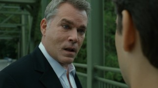 Peter Mazzoni (Ray Liotta) gives an impassioned deconstruction of the protagonist's character on a bridge from which $75,000 in cash just been dropped in the river.