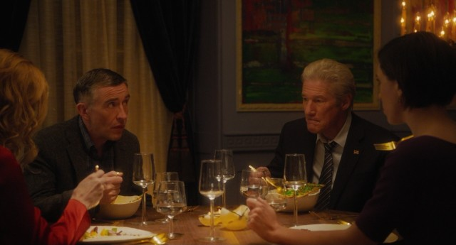 "Two wealthy brothers (Steve Coogan and Richard Gere) and their wives get a fancy yet tense meal in ""The Dinner."""
