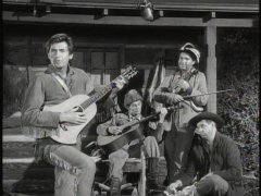 Fess Parker croons the theme song in an Easter Egg